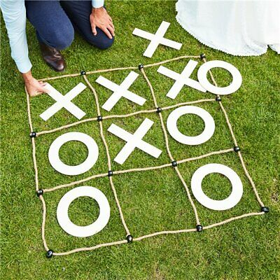 Giant Wooden Noughts And Crosses Game Wedding Garden Fun Party Games Decorations • 22.99£