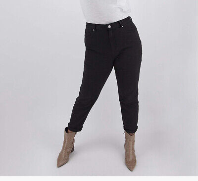 Simply Be Black High Waisted Mom Jeans Size 22 • 6.50£