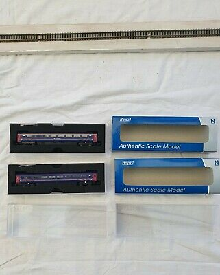 Dapol N Gauge GWR 2nd Class Carriages (qty 2) • 19.50£