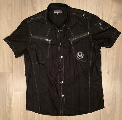 Duck And Cover Men's S/S Shirt Black XL • 1.30£