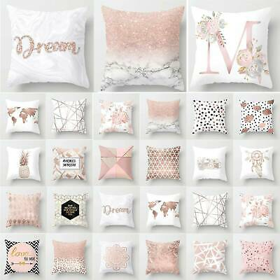 Pink Pillow Cases Soft Comfy Geometric Cushions Cover Bedroom Sofa Decoation New • 5.89£