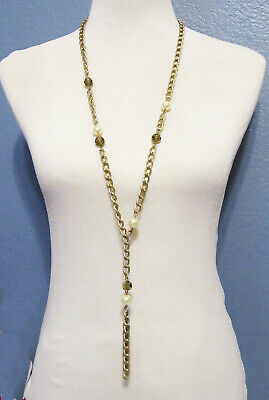 $ CDN0.13 • Buy Lia Sophia Jewelry Curtain Call Glass Resin Pearl Necklace RV$68