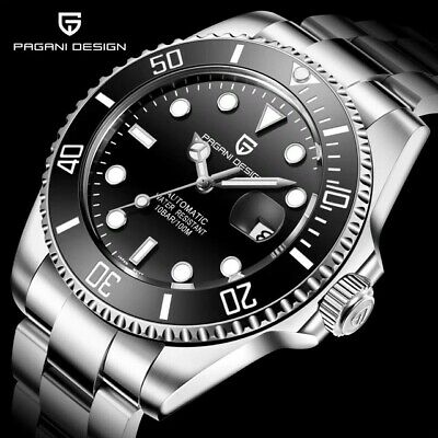 £89.95 • Buy Pagani Design Automatic 100m  Pd1639 Divers Watch Seiko Nh35a, Submariner Homage