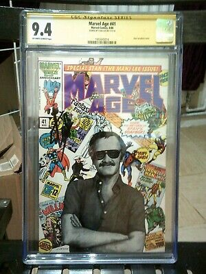 £439.99 • Buy Marvel Age 41  CGC  9.4   Signed By Stan Lee   Signature Series