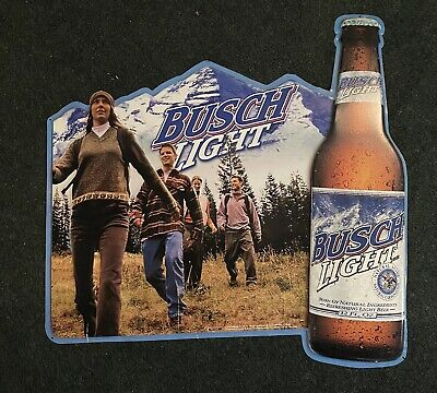 $ CDN89.01 • Buy BUSCH LIGHT BEER Tin Metal SIGN Hiking Great Outdoors Budweiser Mountains