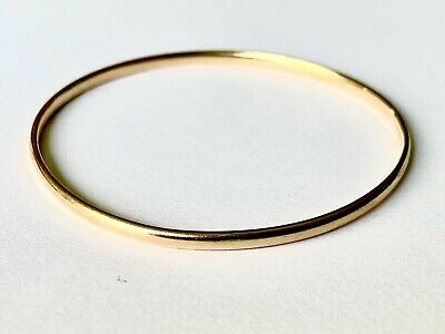 AU350 • Buy Gold Bangle 9ct Stamped. 7.69 Gm Diameter 58.5mm Width 2.7mm Thickness 1.67mm