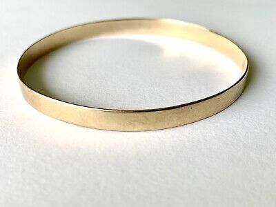 AU350 • Buy Gold Bangle 9ct Stamped 7.11gm Diameter 58.94mm Width 5.19mm Thickness 0.73mm