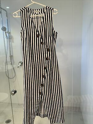 AU19.19 • Buy Country Road Linen Black And White Dress Size 6