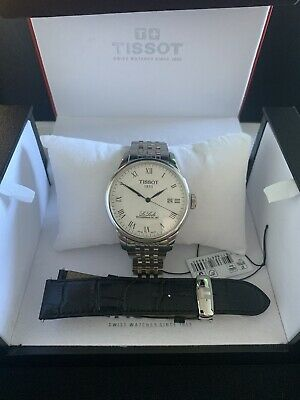 Tissot Le Locle Powermatic 80 Automatic Swiss Watch Bracelet + Leather Strap • 150£