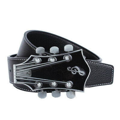 £8.80 • Buy Western Cowboy Leather Strap Belt American Country Music Guitar Buckle