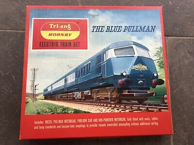 Triang Hornby Railways The Blue Pullman Train Set Boxed RS52 With Track • 130£