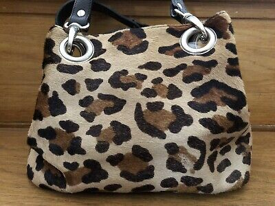 Russel & Bromley Leopard Print Pony Skin Tote Handbag ~Great Preloved Condition~ • 23.50£