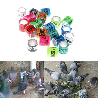 100-piece Aluminium Bird Pigeon Leg Rings Bands 8mm Reusable For Poultry • 5.91£