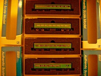 N Gauge Dapol 4 Maunsell Coaches In BR SR Green Boxed Very Good Condition • 70£