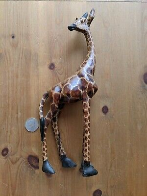 Carved Wooden Ornament Animal African Giraffe Gift Home • 1.20£