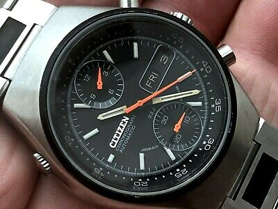 $ CDN103.01 • Buy CITIZEN VINTAGE AUTOMATIC CHRONOGRAPH GN-4-S Racing Flyback 67-9119 ALL ORIGINAL