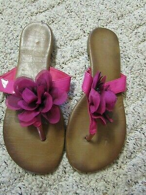 £5.08 • Buy Womens Flip Flops With Pink Flower / Bamboo Size 10