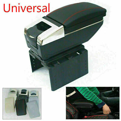 $ CDN69.42 • Buy Universal Car Central Container Armrest Box PU Leather Center Storage Case Black