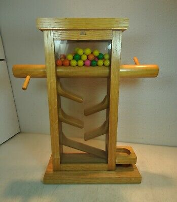 $39.99 • Buy Vintage Hand Made Candy Dispenser Wood Acrylic Gum Candy Nuts M&M Skittles Fun