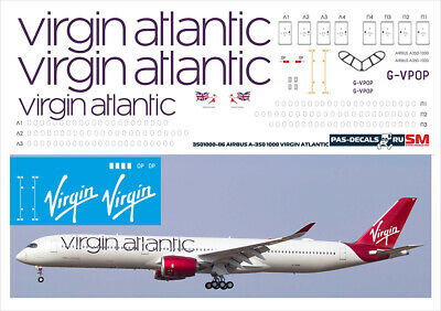 1/144 PAS-DECALS  ZVEZDA  Revell  Airbus A350-1000 VIRGIN ATLANTIC • 10.73£