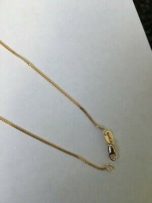 AU62 • Buy 9ct Yellow Gold 1mm 60cm Necklace Curb Link CHAIN 2.01 Grams