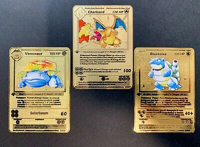 AU27.95 • Buy Charizard Venusaur Blastoise 1st Edition Pokemon Metal Card Base Set 102 #2/4/15