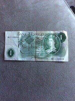 Old English One Pound Note • 2£