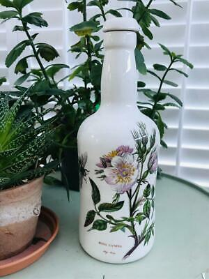Portmeirion Botanic Garden Bottle, With Stopper Dog Rose Design 10  High • 17.99£
