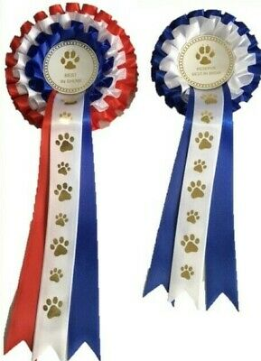£5.50 • Buy Dog Show Rosettes -best In Show & Reserve Best In Show Free Postage*