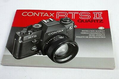 $ CDN30.49 • Buy CONTAX RTS II Anleitung Original Instruction 4 Languages Like New For Collectors