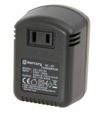 Mercury 45W 230V To 110V UK To USA Step Down Voltage Converter • 9.54£