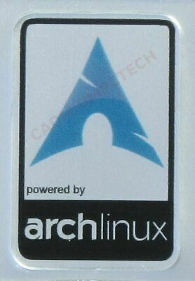 Powered By Arch Linux Aluminium Metal Decal Sticker Computer PC Laptop Badge • 1.35£