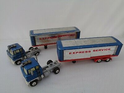 2 X Corgi Major Ford Truck And Articulated Trailer 1137 Express Service Vintage  • 22£