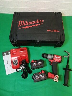 Milwaukee 18V Fuel M18FPD2-502X 1/2  Percussion Drill With 2 X 5.0Ah Batteries  • 299.99£