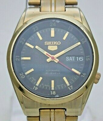 $ CDN13.34 • Buy Vintage Seiko 5 Japan 7S26-02C0 Automatic See Through Back Gold Plated Men Watch