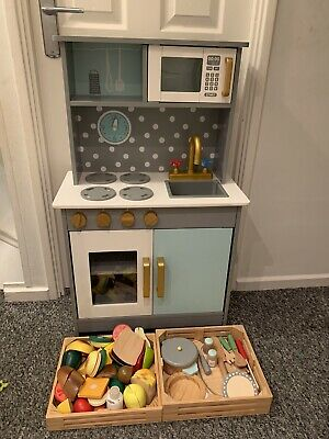 Kids Wooden Kitchen Food And Acessories Role Play Toy Preschool Melissa And Doug • 25£