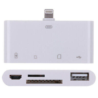 G53 4in1 USB SD Tf Card Reader Adapter Charge Keyboard Camera IPAD IPHONE • 14.19£