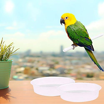 Lifreer 2PCS Bird Bath Bowl Clear Plastic Round Wild Bird Water Dish Replacement • 15.31£