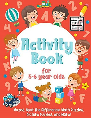 £6.68 • Buy Activity Book For 5-6 Year Olds: Mazes, Spot The Difference, Math Puzzles, And
