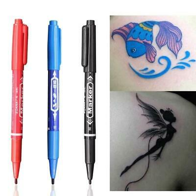 3pcs Double Ends Temporary Ink Skin Marker Pen Tattoo Supplies Body Art Tool • 6.99£