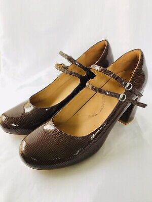 AU89 • Buy ZIERA Fedora Size 42FF (11) Brand New Patent Leather Double Buckle Comfort Heels