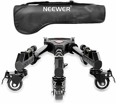 AU49.99 • Buy Neewer Heavy Duty Tripod Dolly With Rubber Wheels And Adjustable Leg Mounts