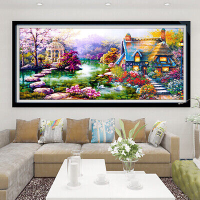 AU20.49 • Buy Large Lanscape 5D Drill Diamond Painting Embroidery Cross Stitch Kit Craft AU