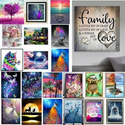 AU17.19 • Buy 5D Full Drill Diamond Painting Cross Stitch Embroidery Art Kits Home Decor DIY