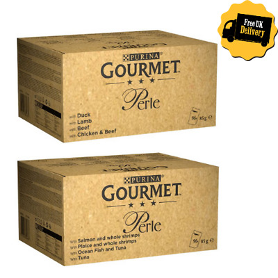 Gourmet Perle Pouches Mixed Mega Pack Wet Cat Food 96 X 85g • 39.29£