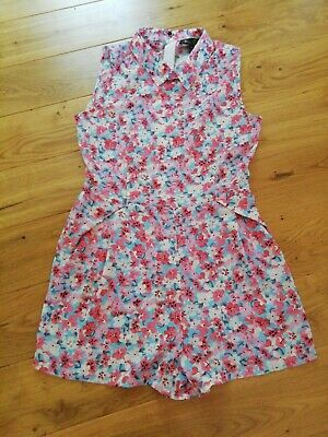 New Lovely Summer Floral Playsuit Size M • 1.69£