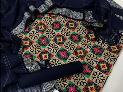 £25 • Buy Stapel Marina Unstitched Winter 2021 3pc Embroidered Jaal Kameez.. Salwar. Shawl