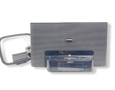 AU49.84 • Buy Sony Iphone Dock With Dual Alarm Clock Radio Model ICF-CS15IPN No Remote