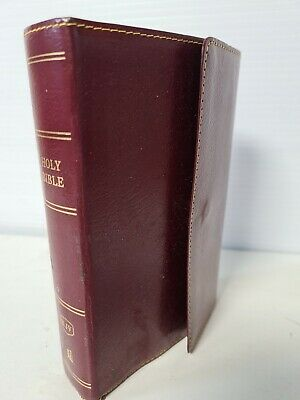 KJV, Reference Bible, Compact, Snapflap Leather-Look, Burgundy, Good Condition  • 12.99£