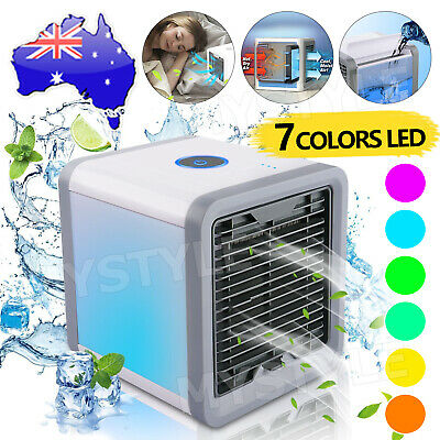 AU15.85 • Buy Portable Mini LED Air Cooler Fan Air Conditioner Cooling Humidifier Purifier AC